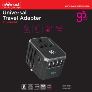 GO TRAVEL UNIVERSAL TRAVEL ADAPTER ALL-IN-ONE (5.6A - 4xUSB)