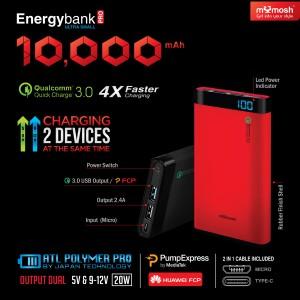 Energybank Pro 10,000mAh Digital LCD 18W
